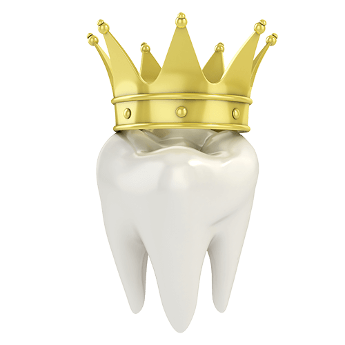 3D Single Tooth with Crown Illustration